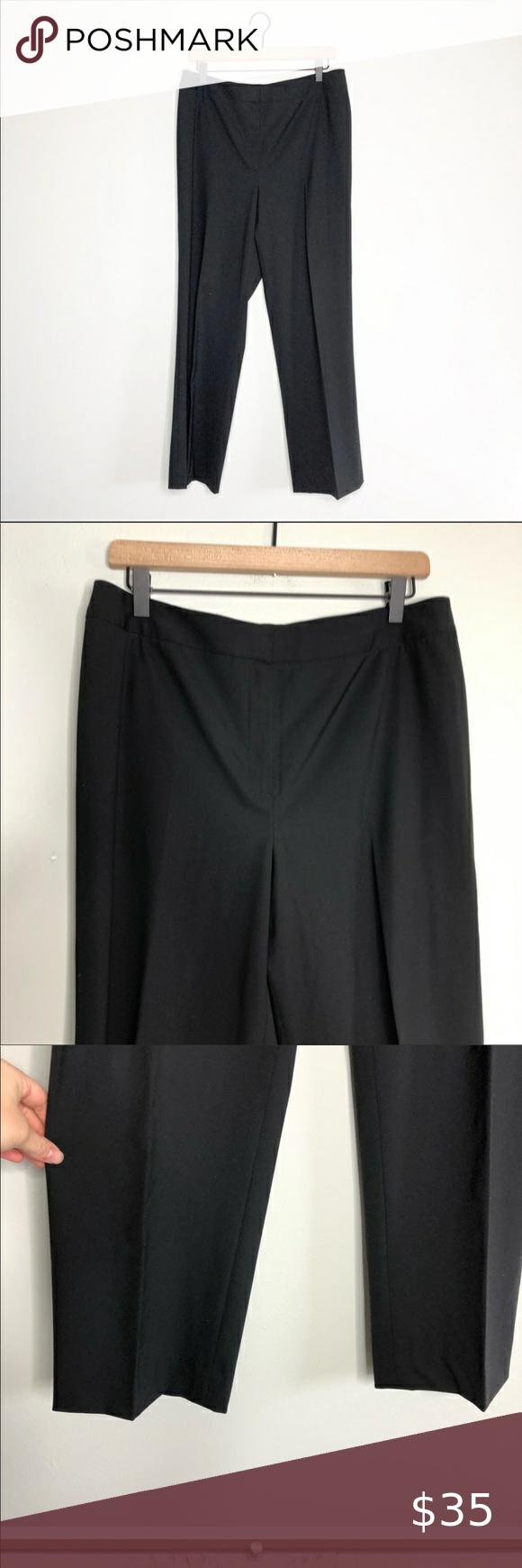 Lafayette 148 Women S Black Dress Slacks Size 12 Black Dress Slacks Womens Black Dress Dress Slacks [ 1740 x 580 Pixel ]