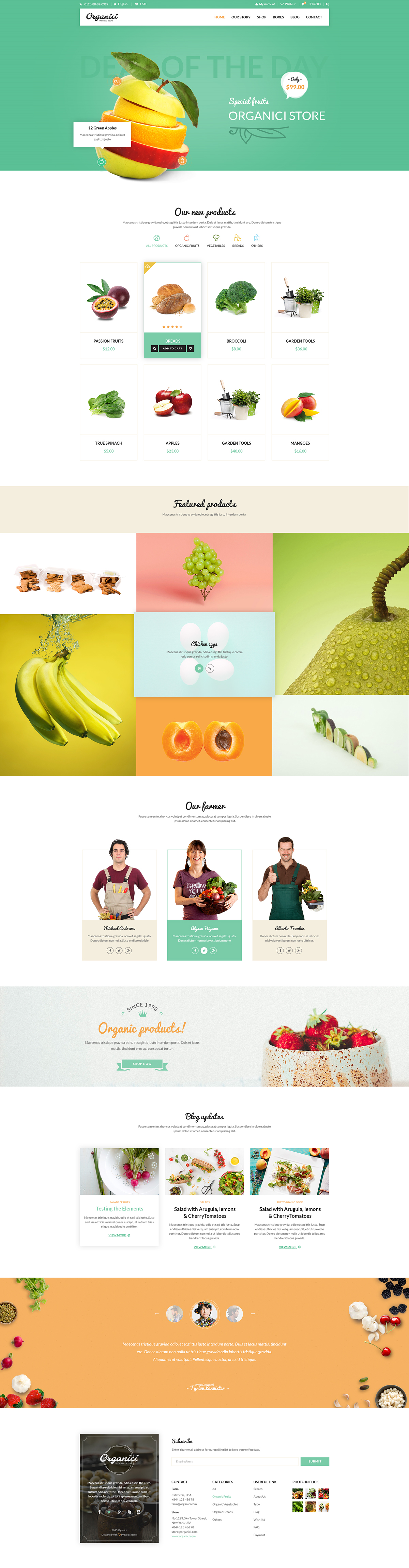Lpo Template Organici Is The Premium Psd Template For Organic Food Shopbuilt .