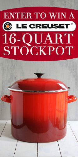 This is Your Chance to #Win a #LeCreuset 16-Quart #Stockpot! #cookware #kitchen #contest VALID UNTIL JAN 1