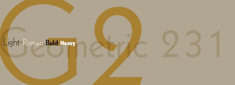 Geometric 231 - Fonts.com