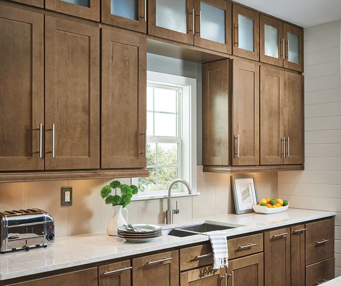 Transitional Kitchen Design With Dover Cabinets In Maple Karoo Finish Transitional Kitchen Design Transitional Kitchen Kitchen Cabinet Styles