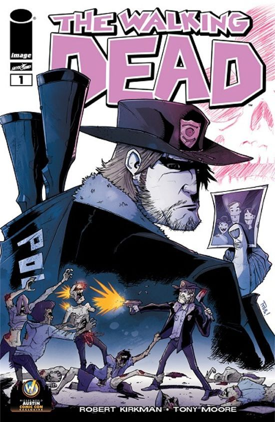 Wizard World Austin Comic Con Variant Walking Dead Comic Cover Revealed
