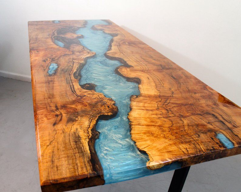 River Table Dining Tables Etsy Wood Resin Table Resin Table
