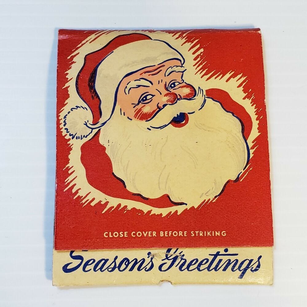 Vtg Lion Match Giant Feature Seasons Greetings Christmas Matchbook Wichita Falls Christmas Greetings Seasons Greetings Matchbook