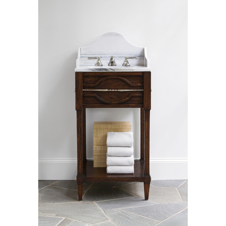 MINI SPINDLE SINK CHEST   Ambella Home #Bathroom #Vanity #Storage #sinkchest
