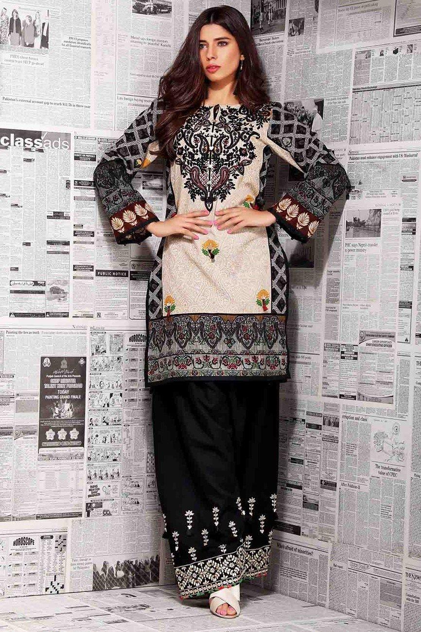 bc90f83001 Warda Winter Collection Linen Dresses 2018 - Fashionvilas.com ...