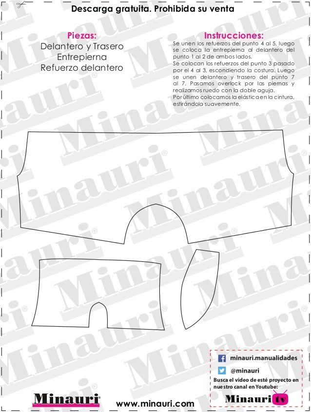 Resultado de imagen para patrones gratis de boxer   PATRONES HUGO ...