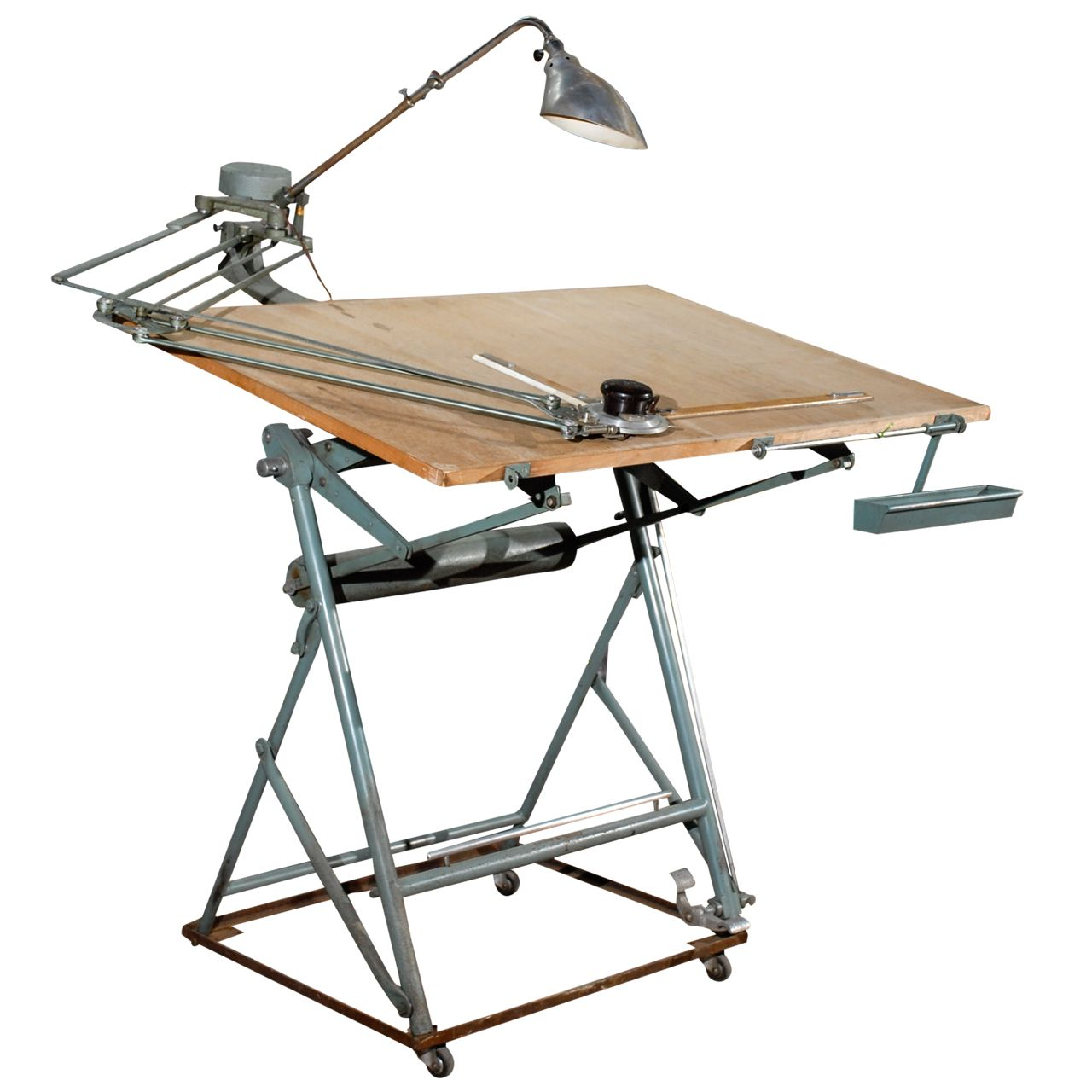 Isis Drafting Table With Original Components | From A Unique Collection Of  Antique And Modern Industrial And Work Tables At ...