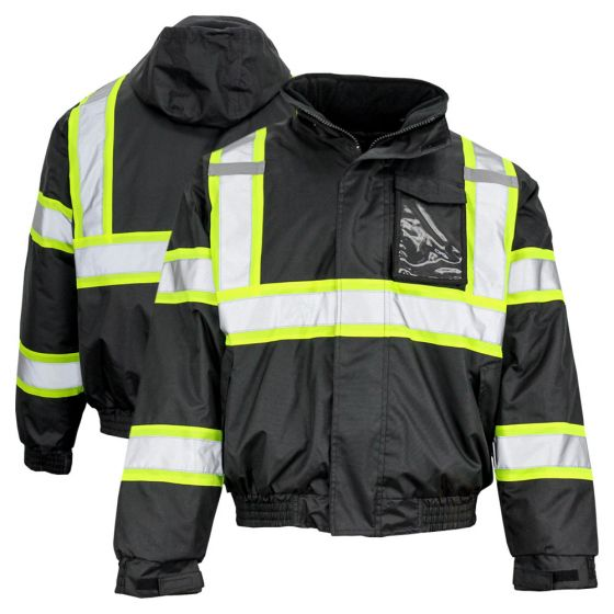 Mens Hi Vis Rain Coat Portwest Waterproof Classic Iona Reflective Coat Workwear