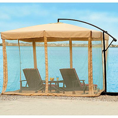 10 Square Offset Umbrella And Mosquito Net Offset Umbrella Mosquito Net Cantilever Patio Umbrella