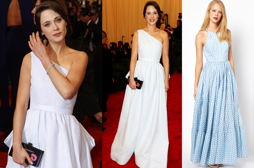 Channel Zooey Deschanel's style from the Met Gala this