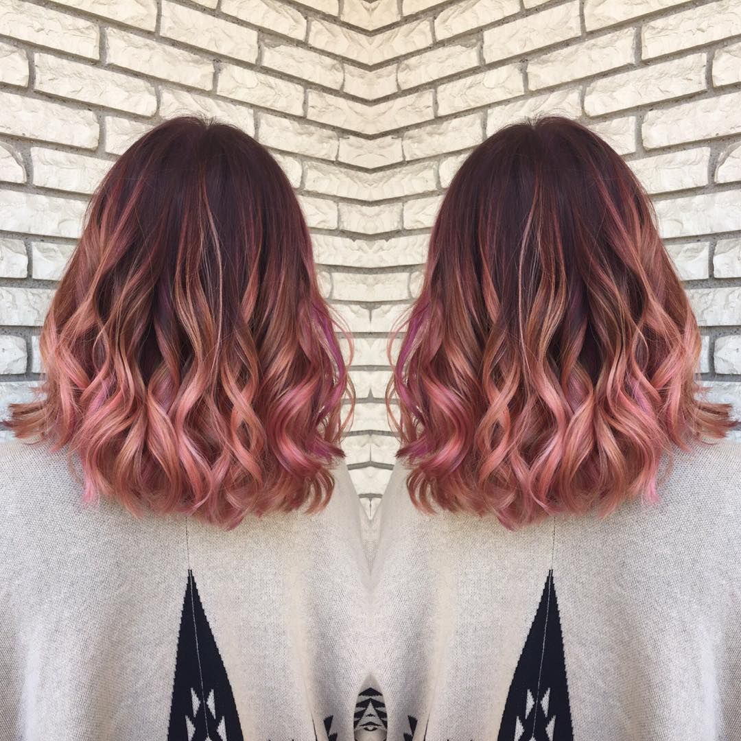 Rose Gold Hair Color Balayage Amp Color Specialist Hairbymadisoncarlisle Instagram Photos And Videos Hair Styles Hair Color Balayage Ombre Hair Color