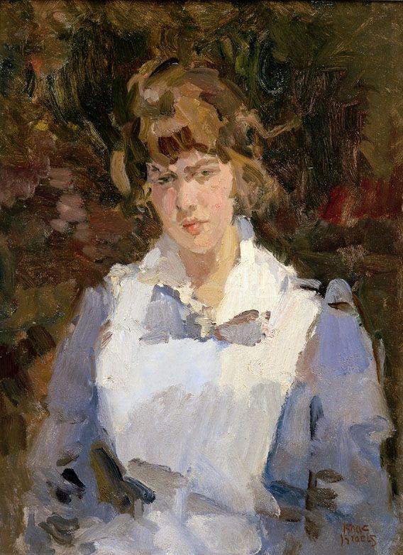 Isaac Israels (1865-1934, Netherlands) - Verpleegster / Nurse | Israël,  Figuur schilderij, Portretschilderij