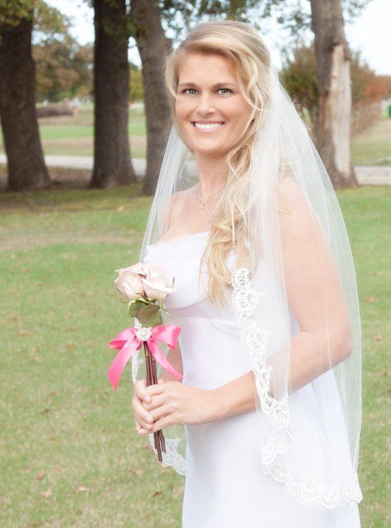 Lace Wedding Veil Single Tier