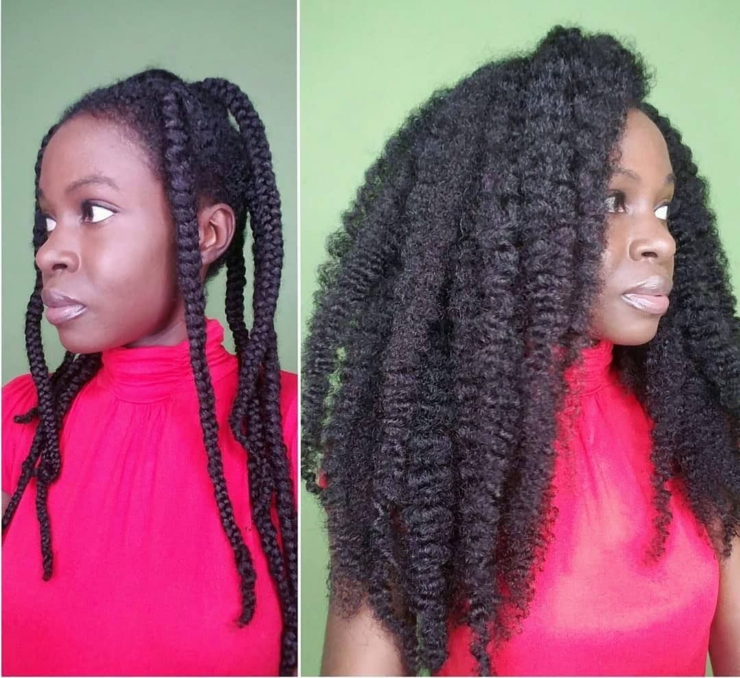 Repost Thefrotales Braid Out On Stretched Hair So After Washing My Hair I Stretched And Air Dried Hair Growth Oil Long Hair Styles Natural Hair Styles