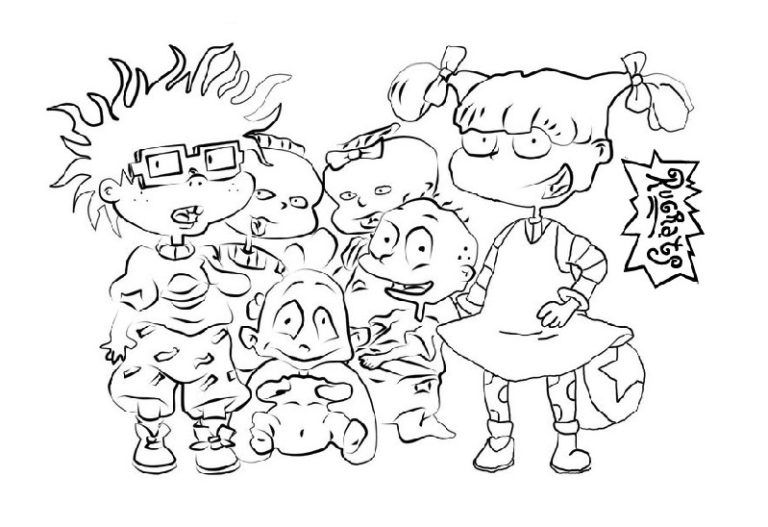 List Of Rugrats Characters Coloring Pages | parties | Pinterest ...