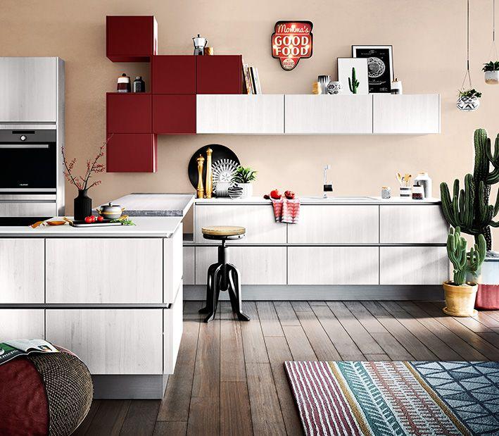 Classic küchen  BALI Eiche-nordic #häckerküchen #häcker #küchen #küchenplanungen ...