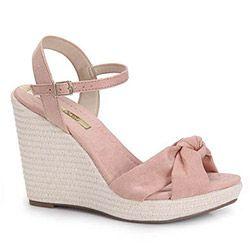 39f726c49 Sandália Anabela Feminina Moleca - Rosa   Kedvenc cipők,szandik ...