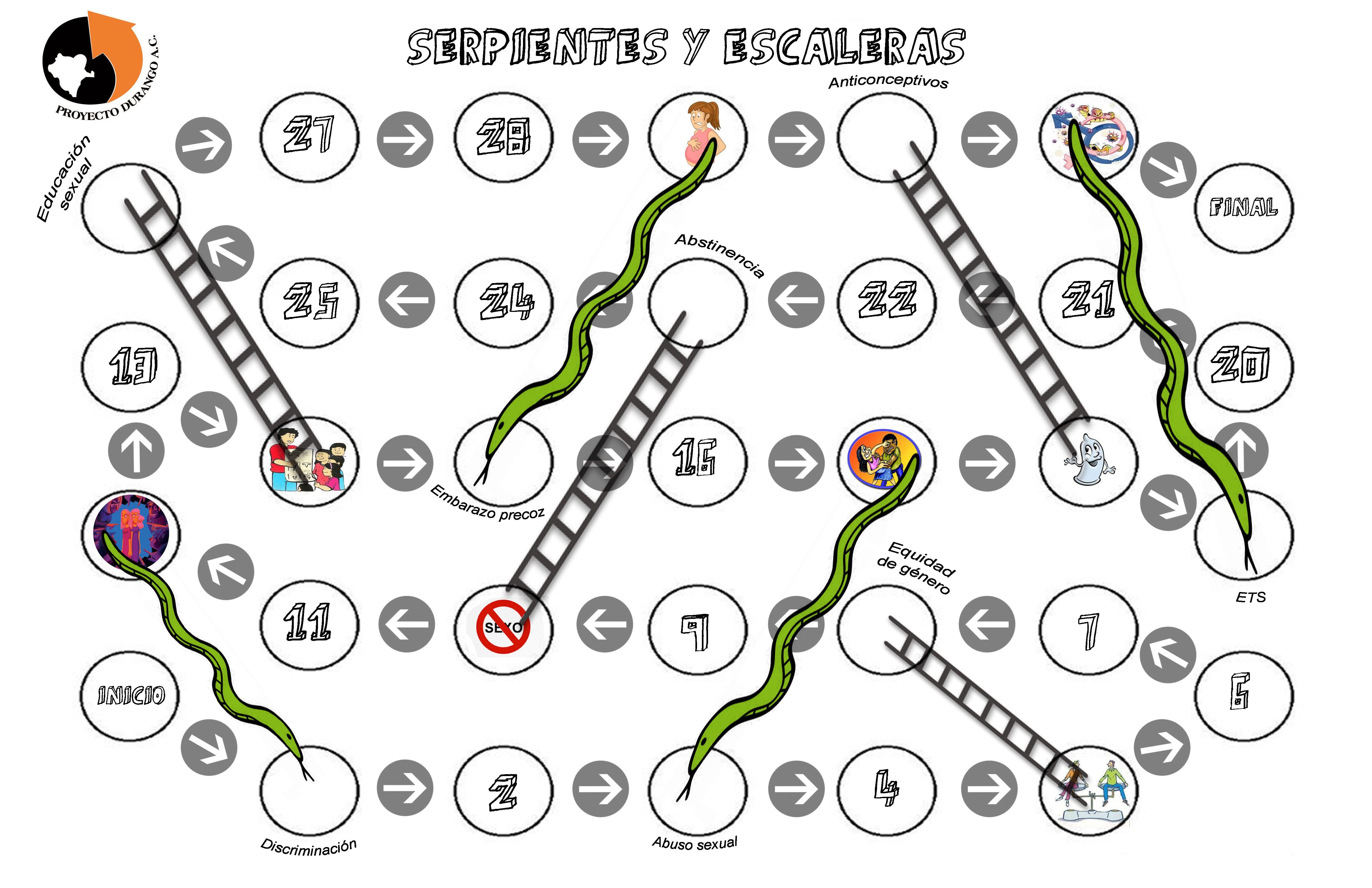 Juego Serpientes Y Escaleras De Educacion Sexual Material