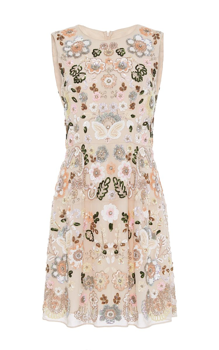 Floral Cluster Mini Dress by Needle & Thread for Preorder on Moda Operandi