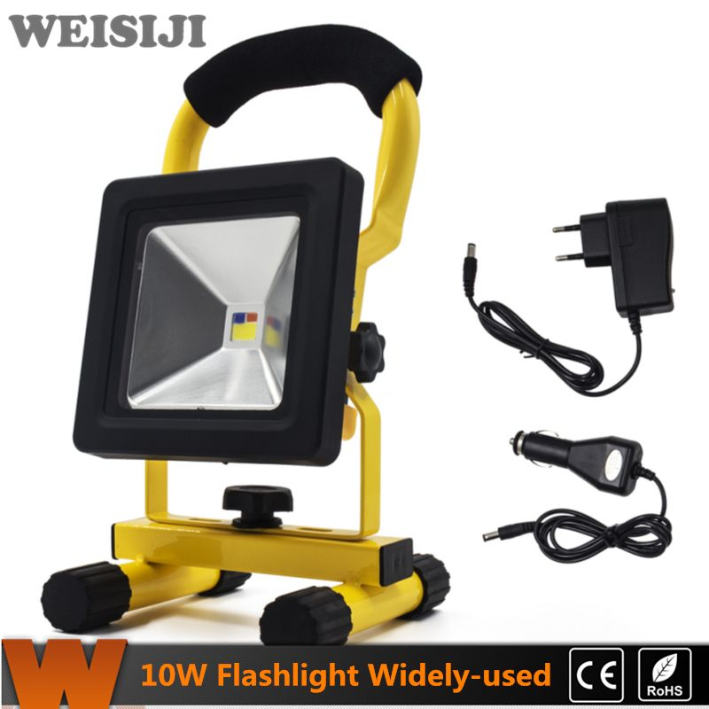 Weisiji hot ip65 10w led flood light portable spotlights weisiji hot ip65 10w led flood light portable spotlights rechargeable flashlight camping outdoor led work light emergency light workwithnaturefo