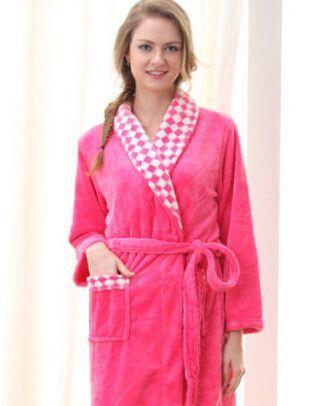 Autumn winter spring thick long flannel robe male coral fleece bathrobe man  plus size brand 9b402c01b