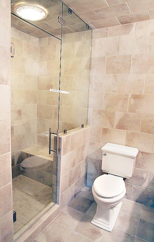 brick pattern tile bathroom design