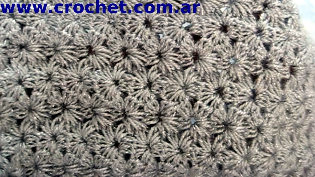Punto Jazmin En Tejido Crochet Tutorial Paso A Paso 2 Punto Jazmin Ganchillo Tutorial Ganchillo