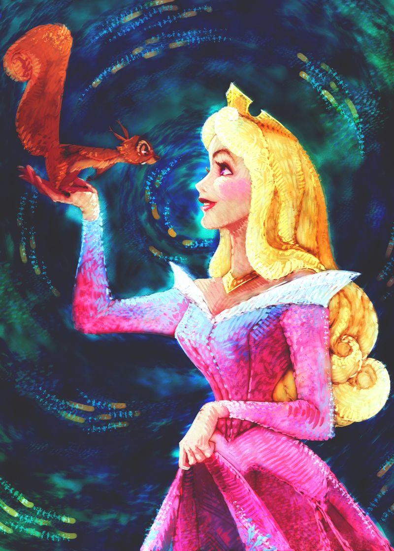 Princess Aurora Coloring Page by MistyTang deviantart com on