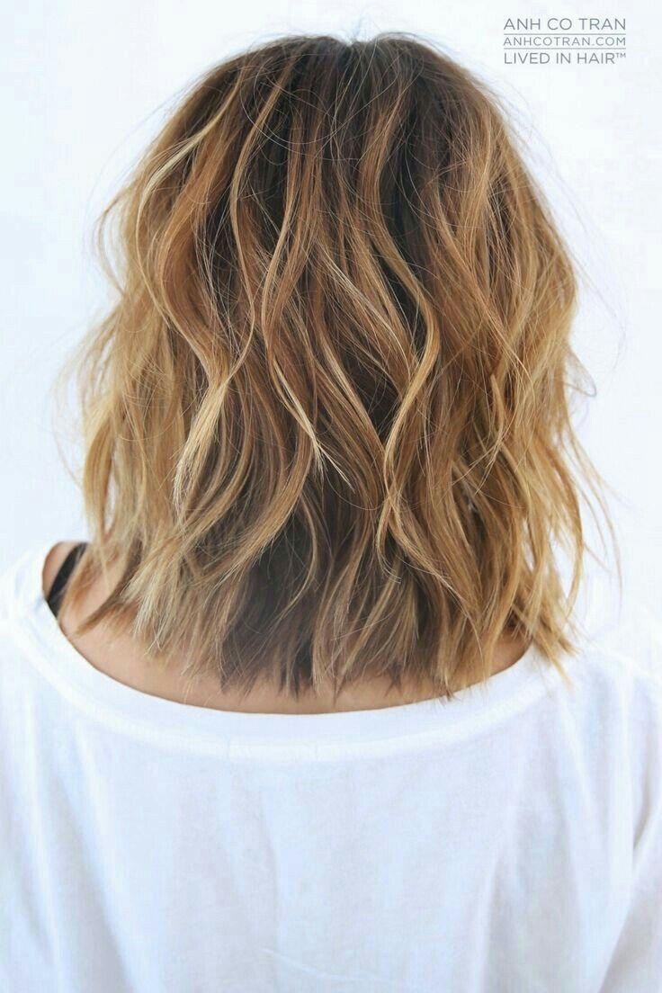 25+ Medium length hair beach wave perm trends