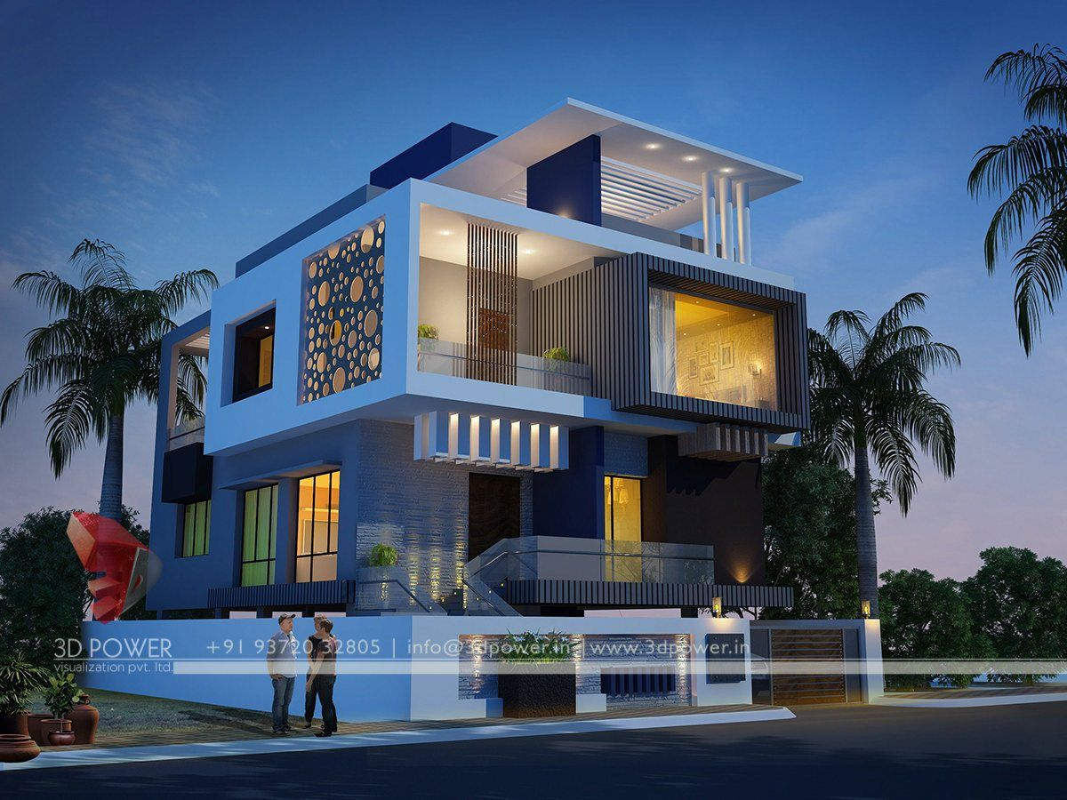 Modern Home Exterior Design Ideas 2017: Pin By 3D Power On Statement In Style With Exclusive Night