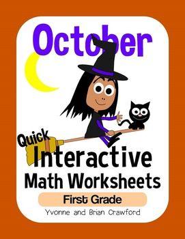 math worksheet : october interactive math worksheets first grade $  first grade  : Interactive Math Worksheets