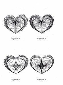 Сердце схема с цифрами