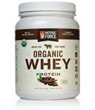 Natural Force Organic Whey Protein Powder RANKED #1 BEST TASTING Grass Fed Whey  Undenatured Whey Protein  Raw Organic Whey Paleo Gluten Free Natural Whey Protein Cacao Bean 14.8 oz.