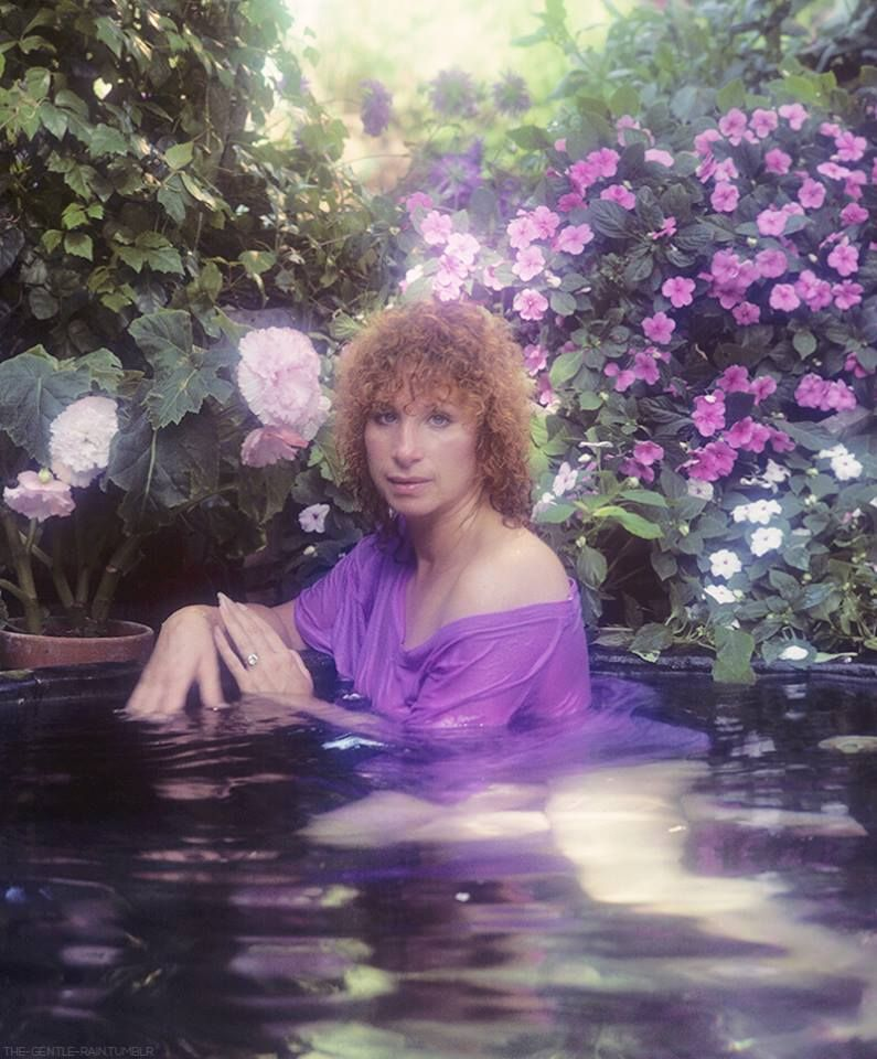 "Barbra Streisand - ""Wet"" (1979), one of the many beautiful outtakes from the photo session for the album."