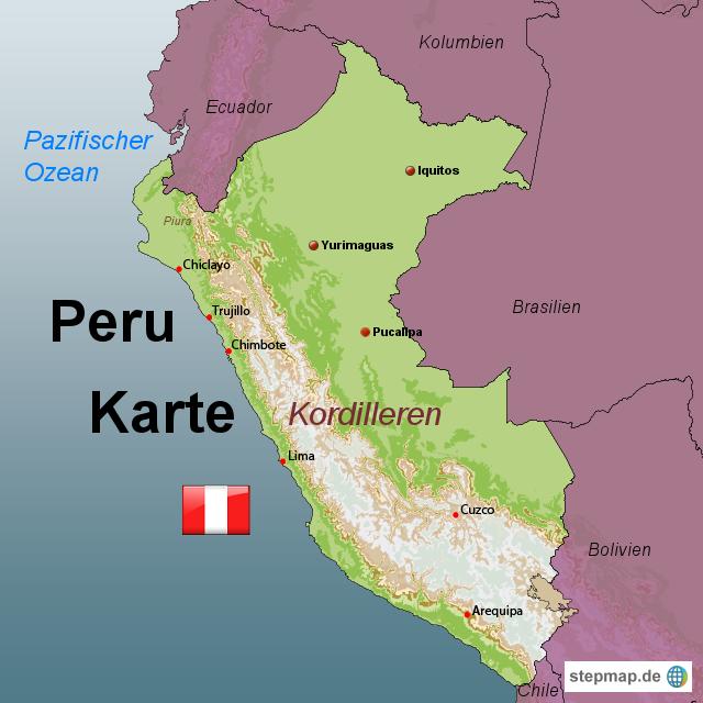 Peru Karte.Pin Von Achim Baum Auf Peru Peru Bolivien Und Kolumbien