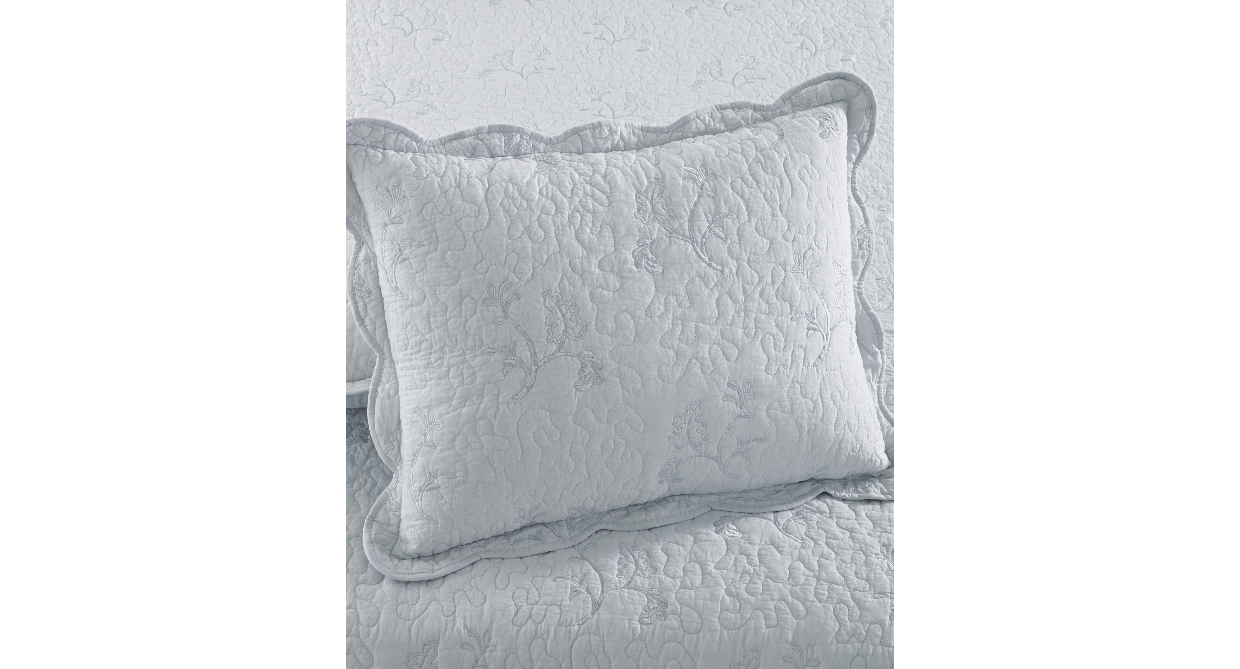 Closeout! Martha Stewart Collection Whisper Leaves Standard Sham (Only at Macy's)
