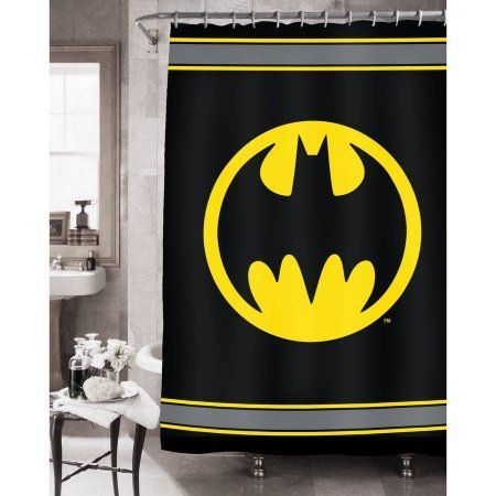 Batman Bathroom Sets With Shower Curtain And Rugs And Accessories   Batman  Bathroom Set (Shower Curtain Bath Rug Waste Can)    Click On The Imau2026 |  Pinterest