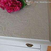 How Paintable Wallpaper Can Revive a Ruined Tabletop
