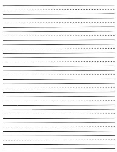 Lined Writing Paper Printable Elementary  Literature Review