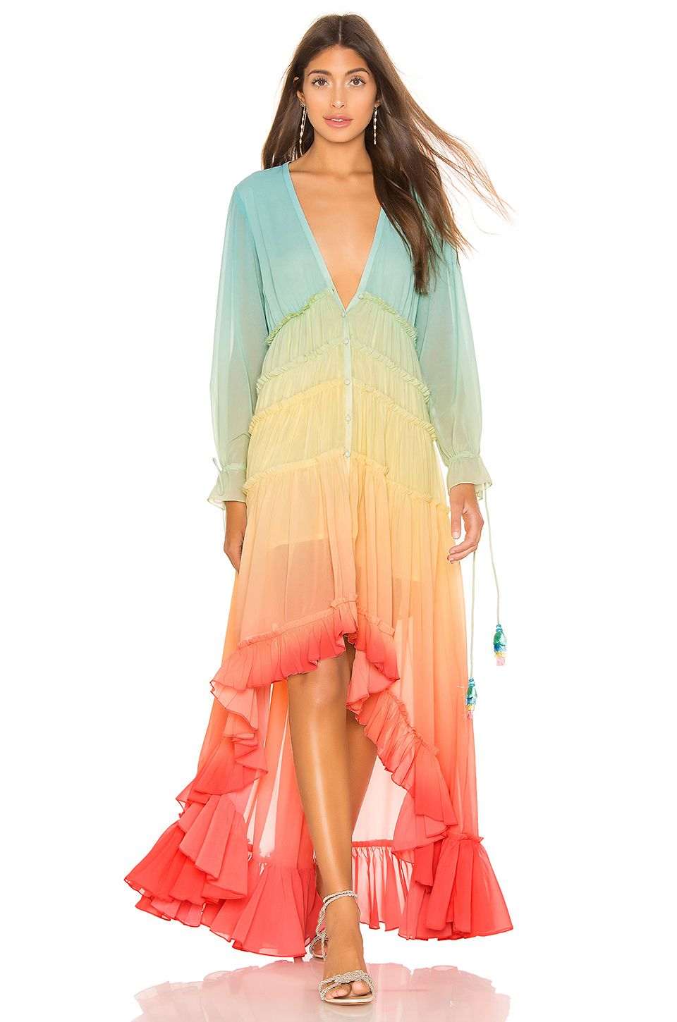 dc451e359bc ROCOCO SAND High Low Dress in Rainbow
