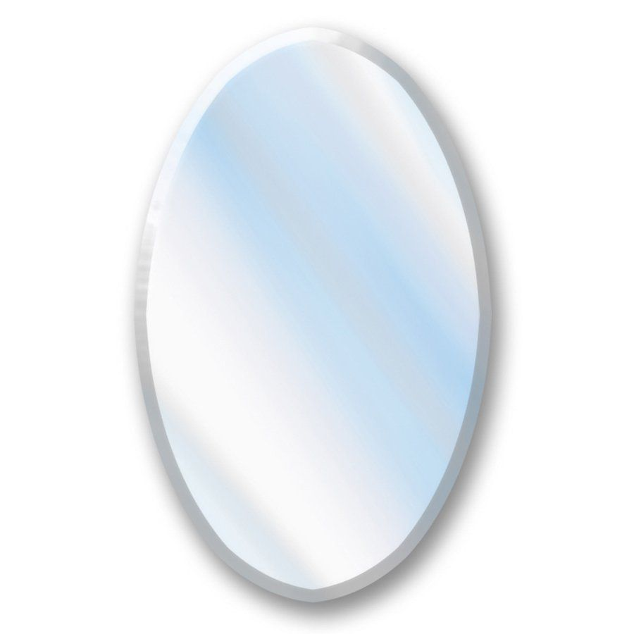 Shop American Pride 21 25 In X 31 25 In Oval Recessed Mirrored
