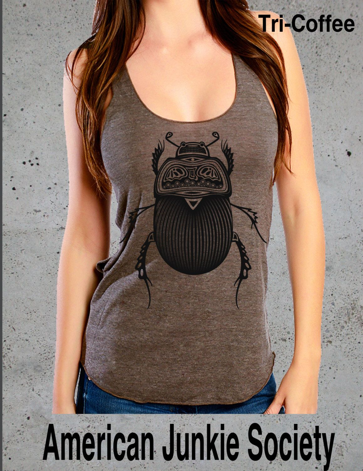 Insect Bug Tank Top Beetle Tshirt,Graphic tee Racerback