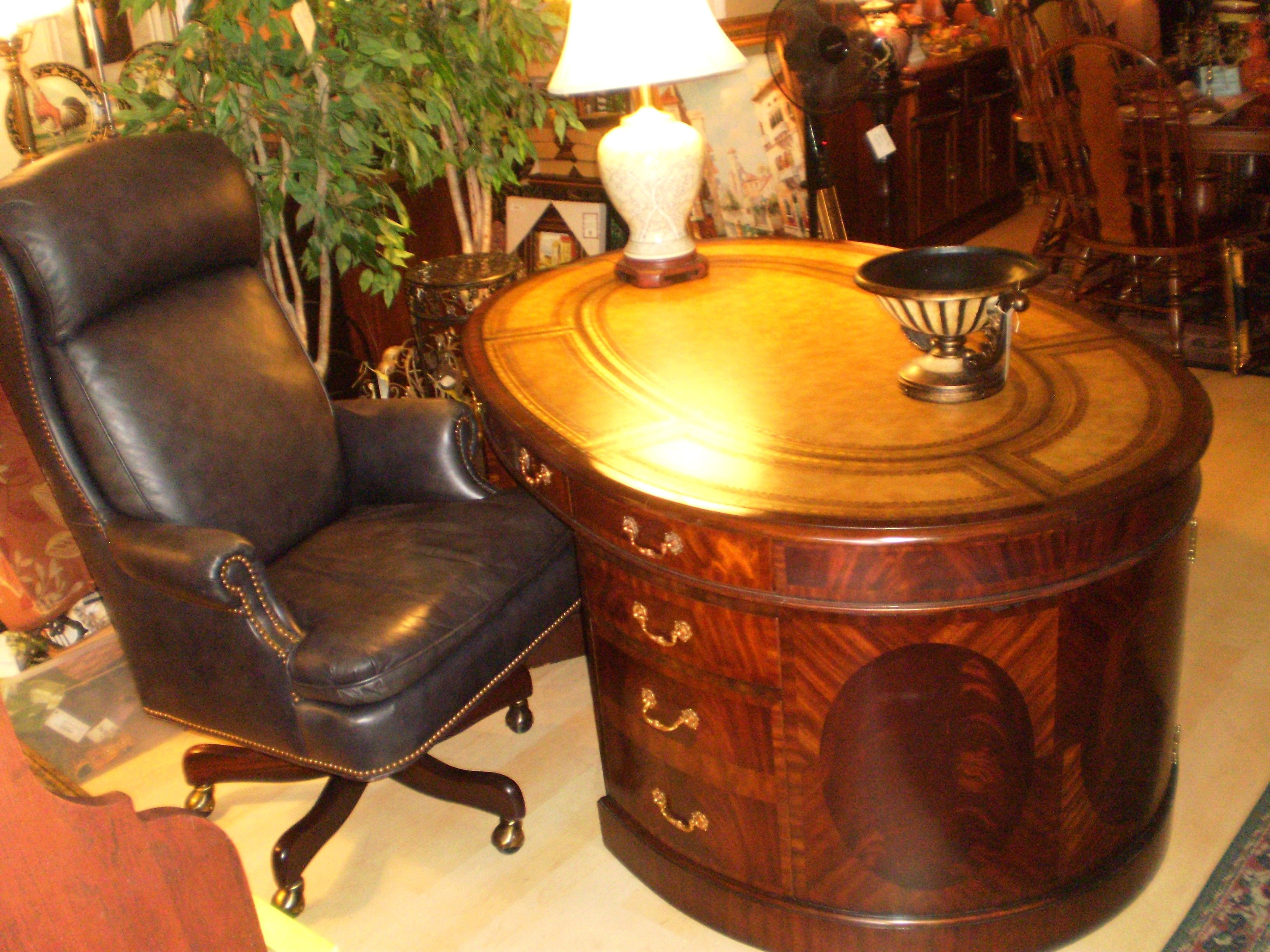 Maitland smith leather inlaid top oval partners desk priced 5500 maitland smith leather inlaid top oval partners desk priced 5500 now 2999 70w gumiabroncs Choice Image