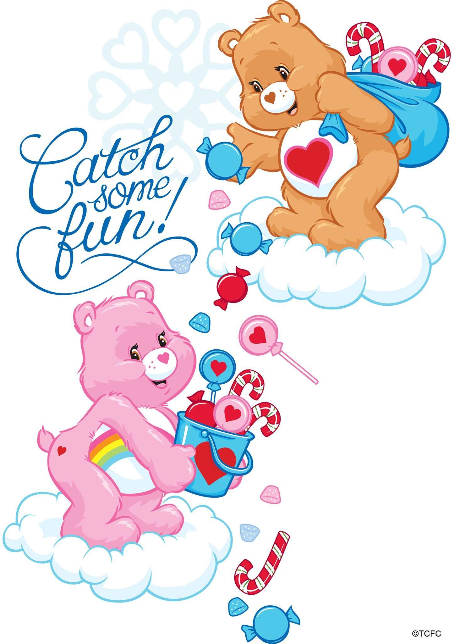 Care bears tenderheart and cheer bear catch some fun