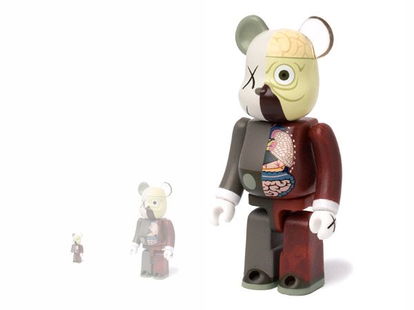 107b7f80 Kaws bearbrick Dissected companion sets (100%, 400% and 1000 ...