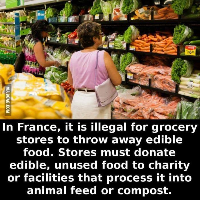 Toisin kuin Suomessa... Laitetaan vielä roskiksiin lukot, että kukaan ei voi käydä ruokaa hakemassa.