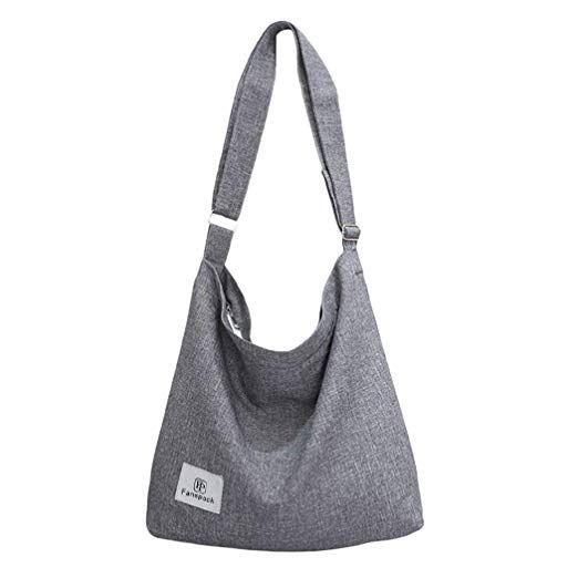 72229be022c6 Fanspack Women's Canvas Hobo Handbags Simple Casual Top Handle Tote ...