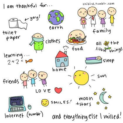 I am thankful for... | Chibird, Cute quotes, Attitude of gratitude