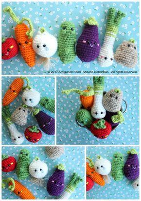 Horray for Veggies!!! Amigurumi Food Free Crochet Pattern Vegetables ...